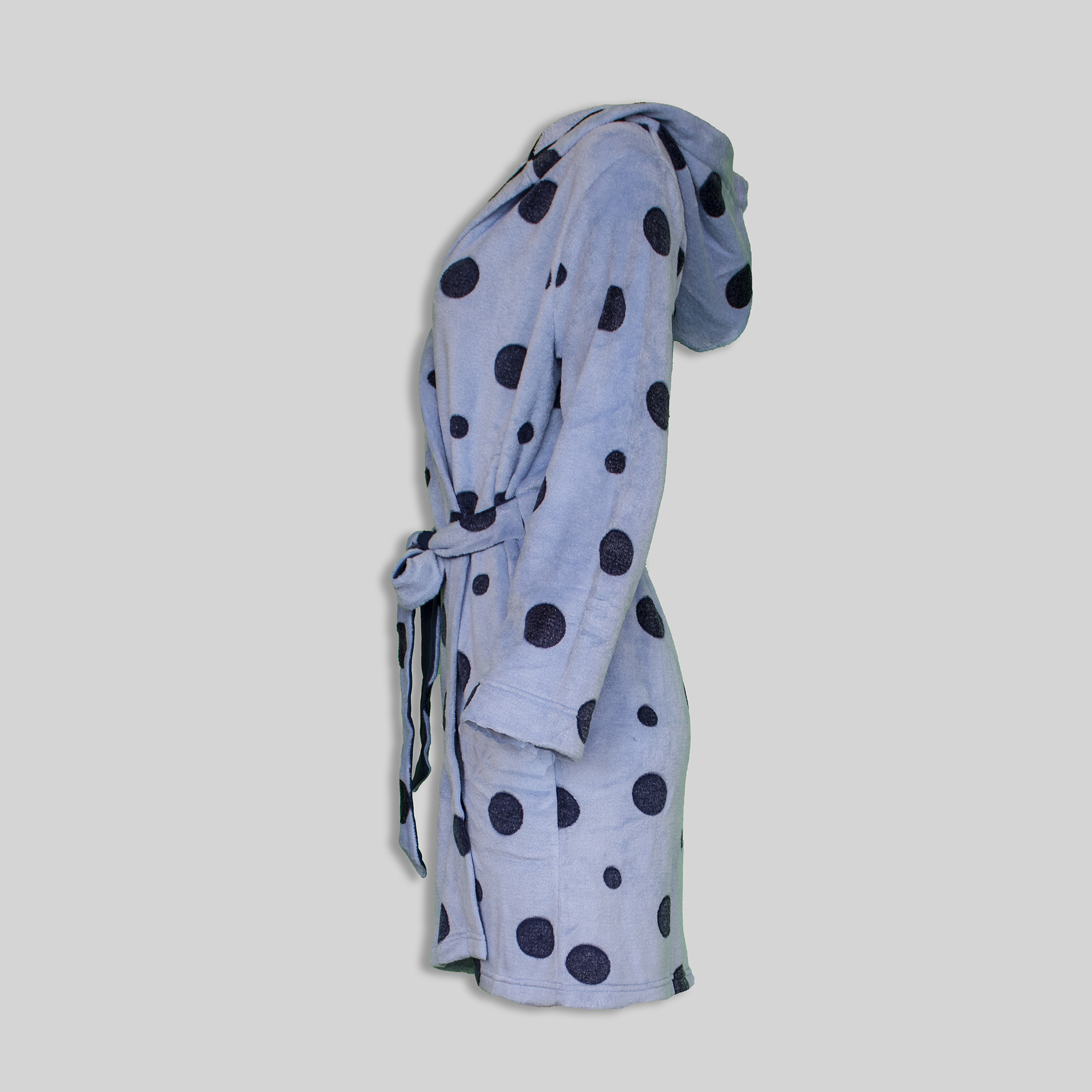 "Dressinggown ""Blue Polka Dots"""