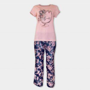 Пижама със сатенен панталон