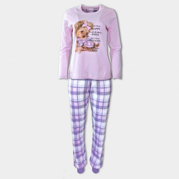 Розови Пижами с Кученца Йорки