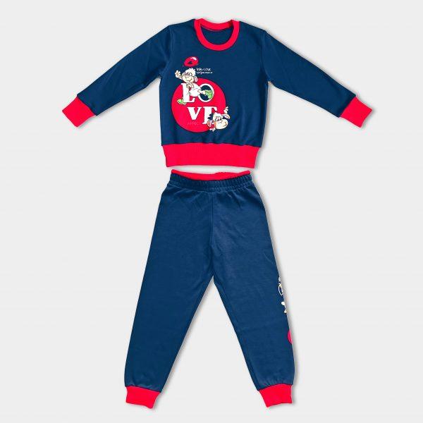 Детска Пижама с картинка на блузката и панталона