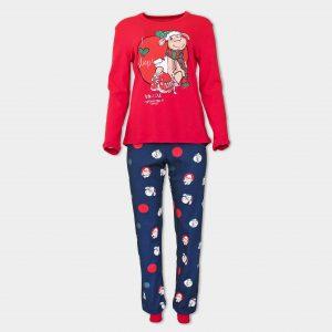 червена коледна пижама