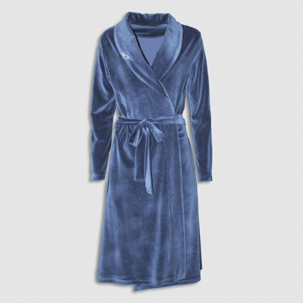 Плюшен халат на аффект с шал яка