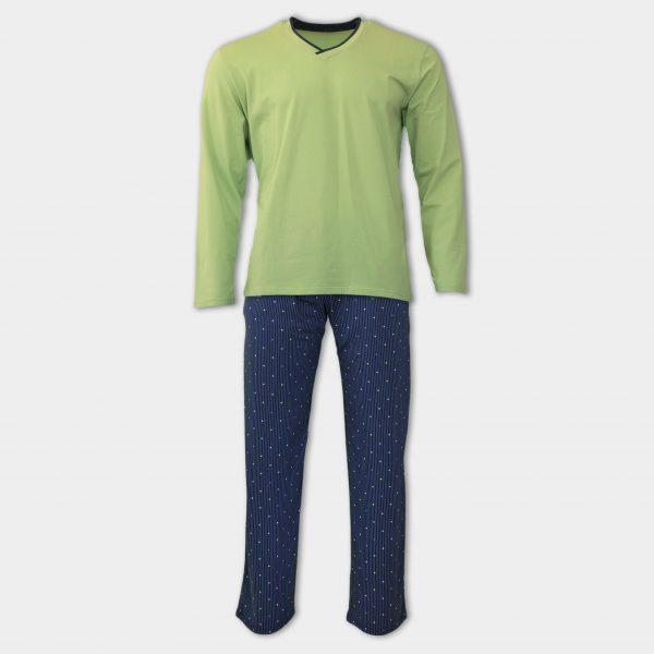 Мъжка пижама в зелен цвят