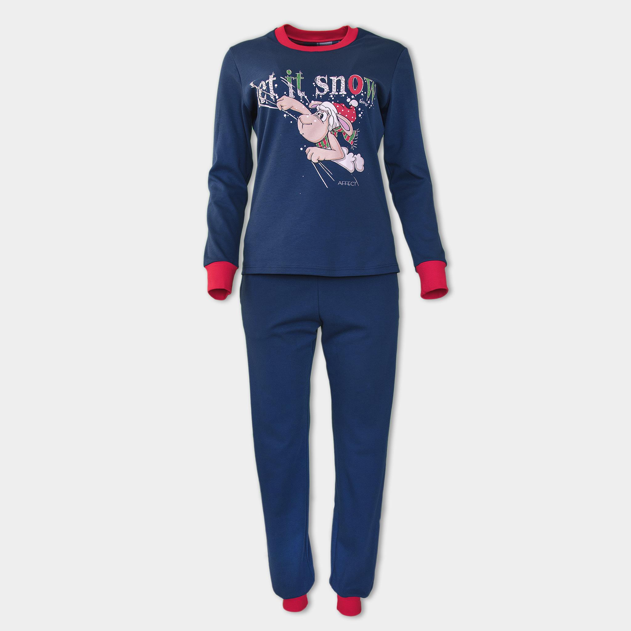 Christmas Pajamas Womens.Women S Christmas Pajamas With Sheep Let It Snow