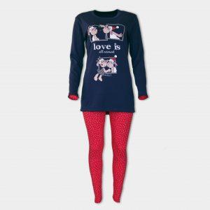 Коледна пижама в червено от Аффект