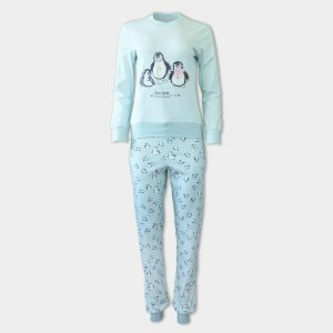 Дамски пижами с бродерии от аффект