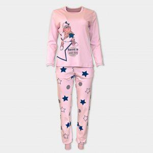 розова пижама с звездички