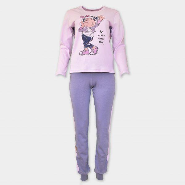 Зимна памучна пижама на аффект