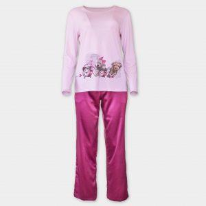 Сатенена пижама в искрящи цветове