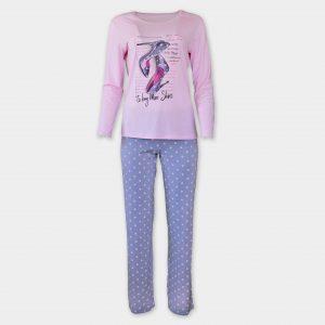 Пижама изработена от фин трикотаж