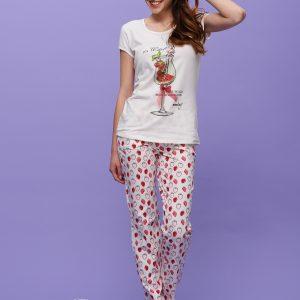 """Дамски Спален Комплект с дълъг панталон """"Strawberry Dream"""""""