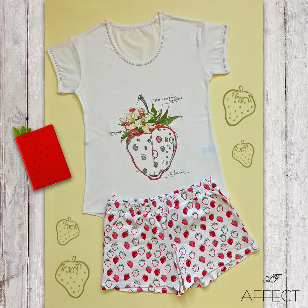 "Ladies summer pyjama ""Strawberry Dream"""