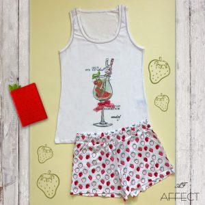 """Дамски летен спален комплект """"Strawberry Dream"""""""