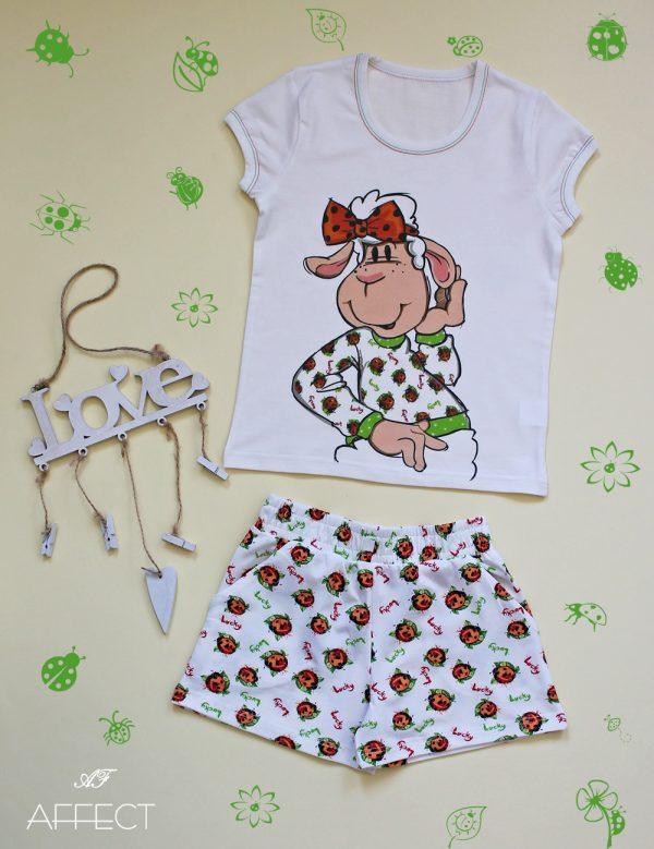 """Детска пижама """"Sheep in Ladybug Garden"""""""