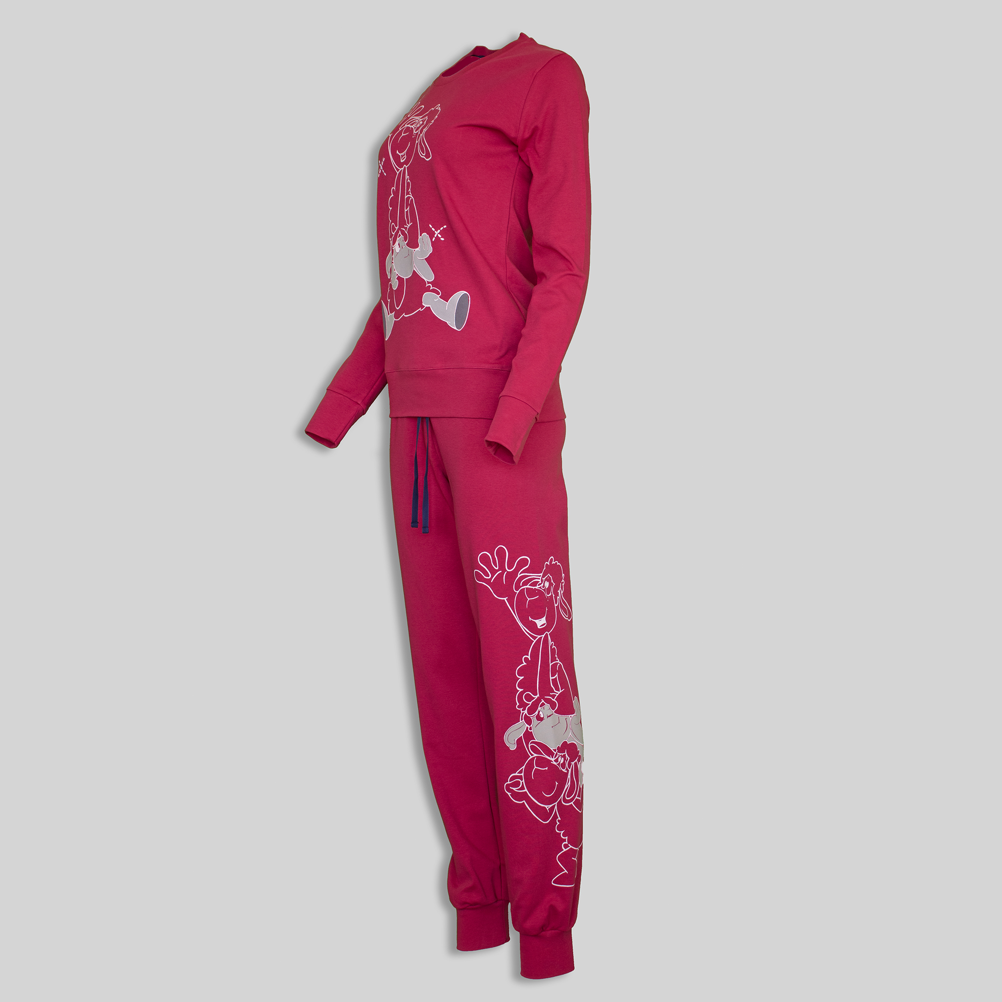 "Ladies Pajama ""High Five Red"""