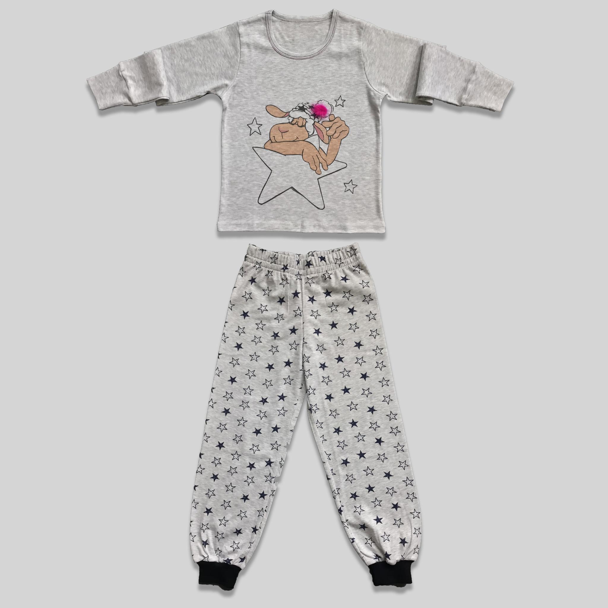 "Childrens pajama ""Counting Stars Grey"""