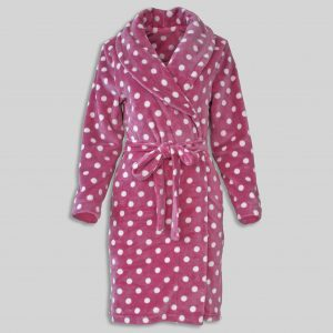 "Dressinggown ""Polka Dots Ash Of Roses"""