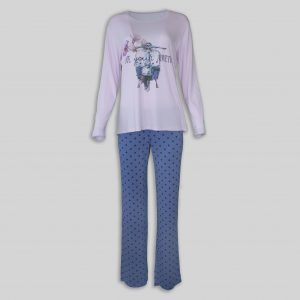 "Ladies Pajama ""Blue Adventure"""