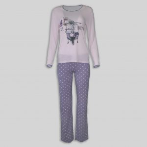 "Ladies Pajama ""Pink Adventure"""