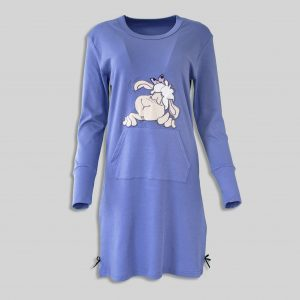 "Ladies Nightdress ""Happy Sheep Blue"""