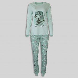 """Дамска пижама """"Dalmatian dog Green"""""""