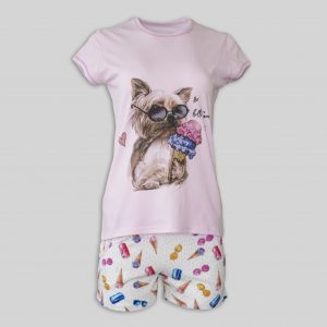 "Women`s Pajamas ""Yorkie loves ice cream"""