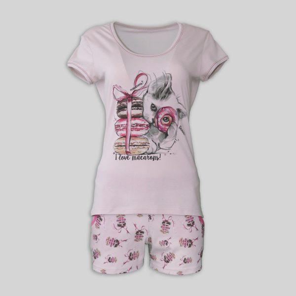 """Дамска лятна пижама """"Macaroon"""""""