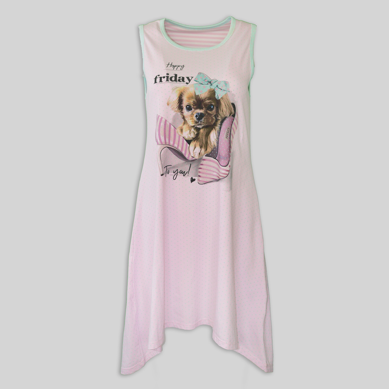"Women`s Nightdress ""Happy Friday"""