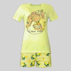 """Дамска лятна пижама """"Lemon Diet"""""""