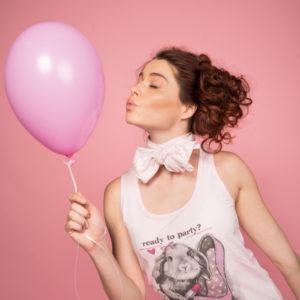 Бельото за спане със сладка щампа в розов цвят