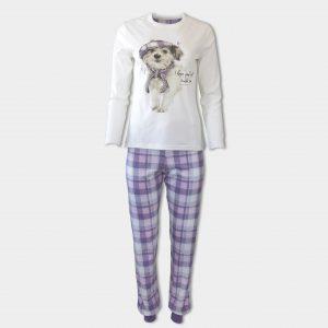 Кокетна пижама с кученце за зимата